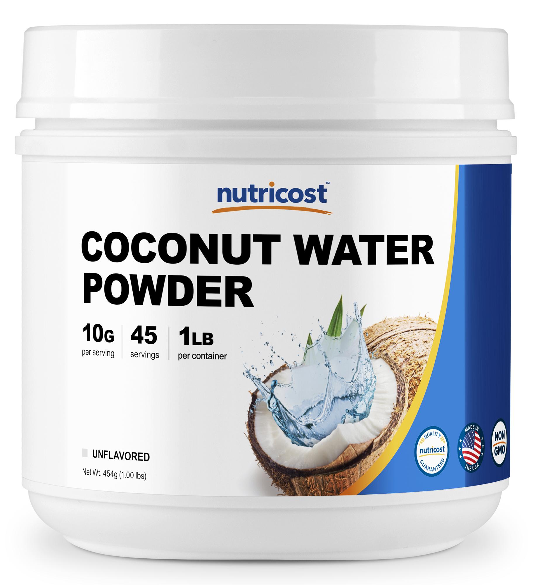 Nutricost Coconut Water Powder 1LB (45 Servings) - Non-GMO, Pure Coconut Water Powder