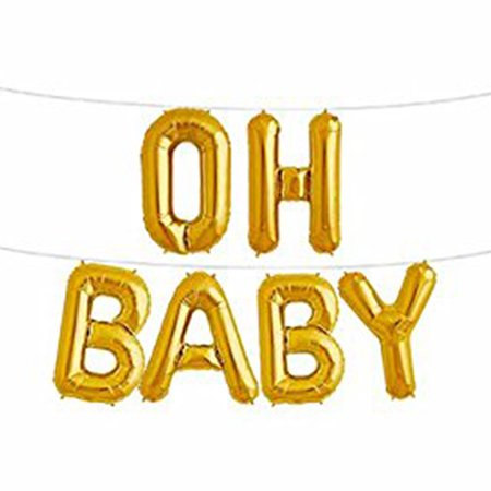 Baby Shower Letter Balloons.Foil Balloons Justdolife Decorative Oh Baby Letter Balloons
