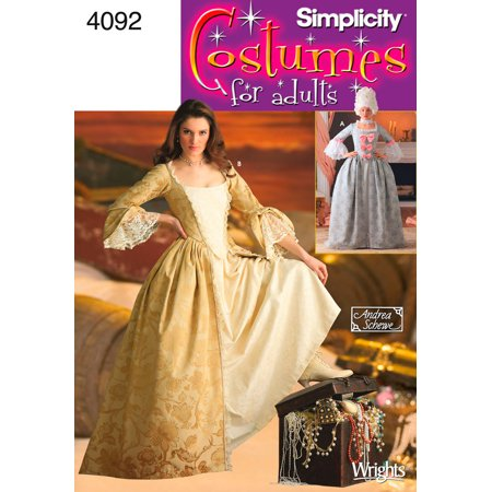 - Simplicity Misses' Size 14-22 18th Century Costume Pattern, 1 Each