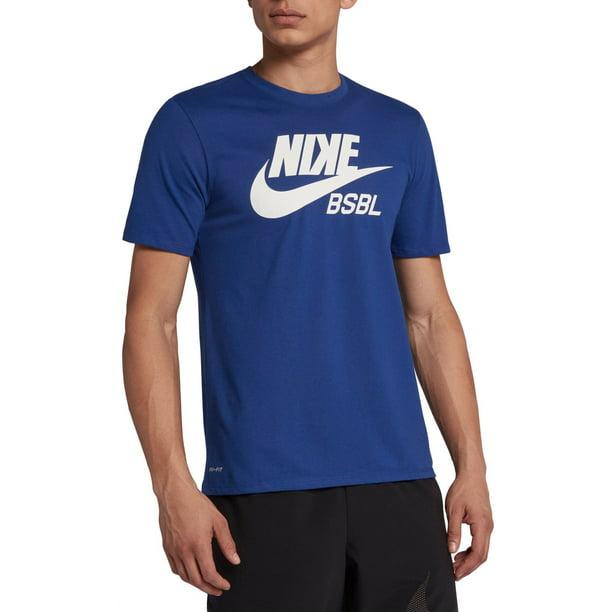 Nike Men's Dry Baseball T-Shirt, Rush Blue/Royal Pulse, Large