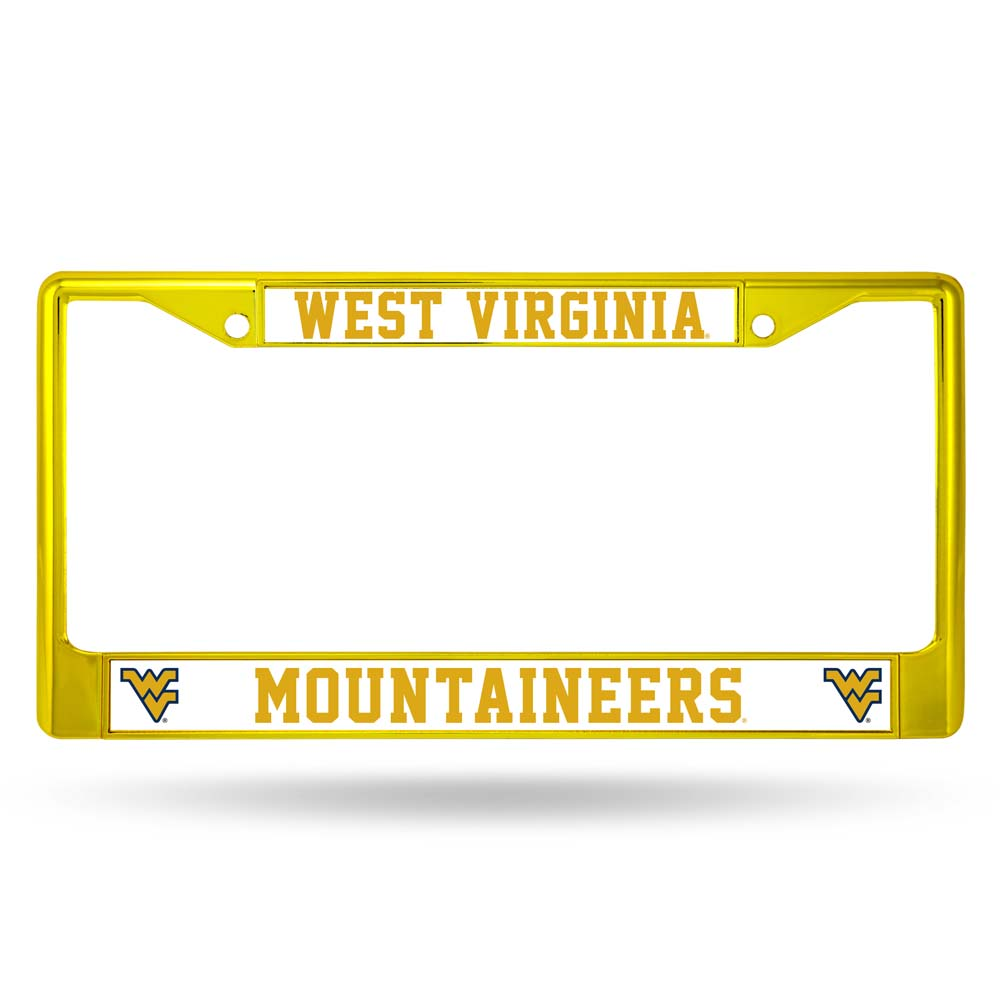 West Virginia Mountaineers Metal License Plate Frame - Yellow