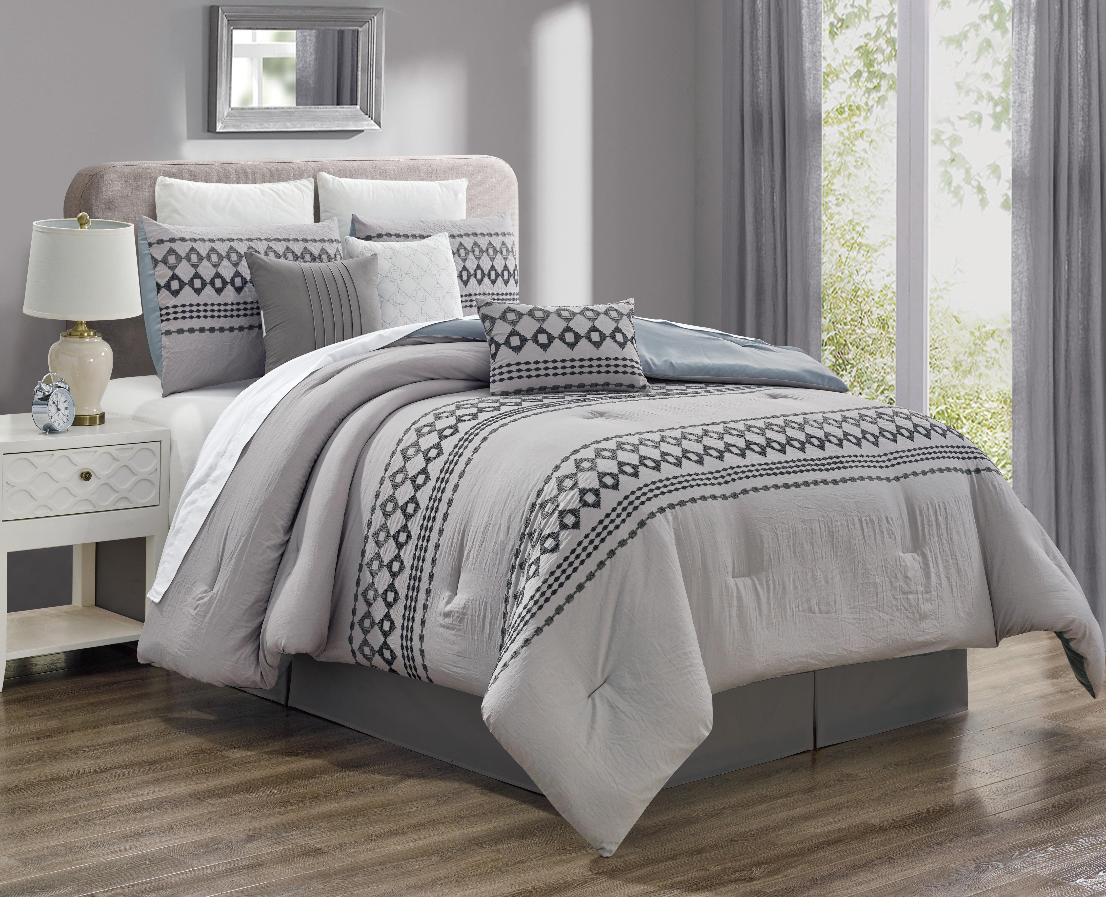 Discount Comforter Sets Clearance Cute Queen Floral 7 Piece Modern Room Bedding Comforters Bedding Sets Home Garden Pumpenscout De