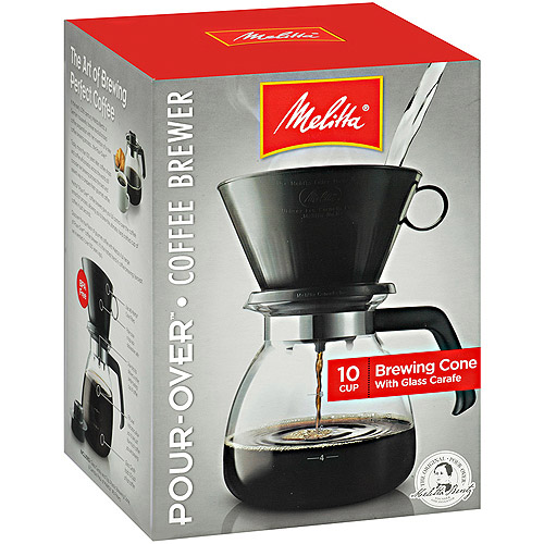 Melitta 10-Cup Coffee Maker, 640616, Black