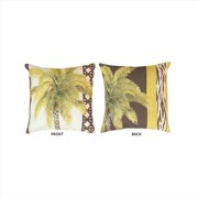 Manual Woodworkers and Weavers SQPLTS Palm Trees and Skins Climaweave Pillow Digitally Printed 20 X 20 inch