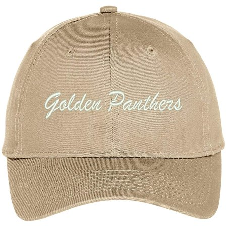 Trendy Apparel Shop Golden Panthers Embroidered Team Nickname Mascot Cap - - Panther Mascot