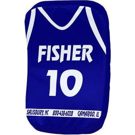 Fisher BB100 Curved Basketball Body Shield, (Royal Basket)