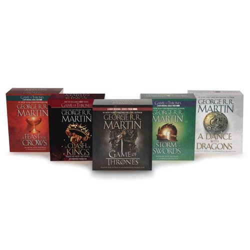 George R. R. Martin Song of Ice and Fire Audiobook Bundle: A Game of Thones / A Clash of Kings / A Storm of Swords / A Feast for Crows / A Dance With Dragons