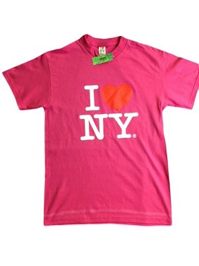 I Love NY New York Baby Infant Short Sleeve Screen Print Heart T-Shirt Hot Pink Xl 24 Months