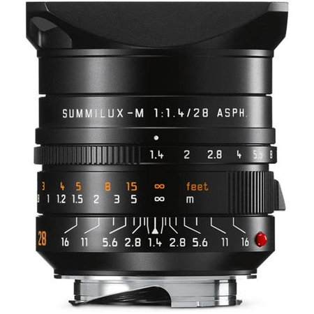 28Mm F 1 4 Summilux M Aspherical  Manual Focus  6 Bit Coded  Lens For M System   Black   U S A  Warranty