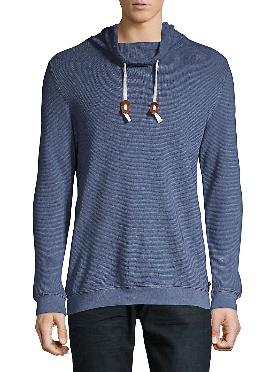 Ribbed Cowlneck Pullover