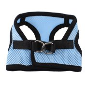 Unique Bargains Black Light Blue Mesh Style Hook Loop Fastener Pet Dog Cat Puppy Harness Vest XS