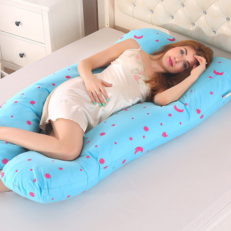 Pregnancy Pillow Bedding Full Body Pillow for Pregnant Women Comfortable U-Shape Cushion Long Side Sleeping Back Support Maternity Pillows
