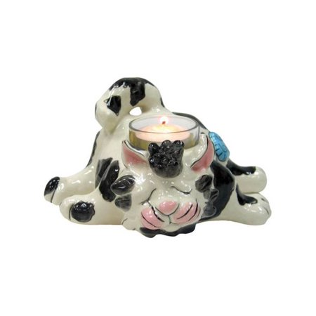 Stanley Cat Ceramic Tealight Holder - Set of 8