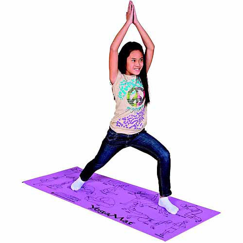"Sportime Youth Yoga Mat with Pose Images, 24"" x 68"""