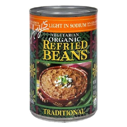 Amys Kitchen 20279 Organic Refried Traditional Beans Low Sodium