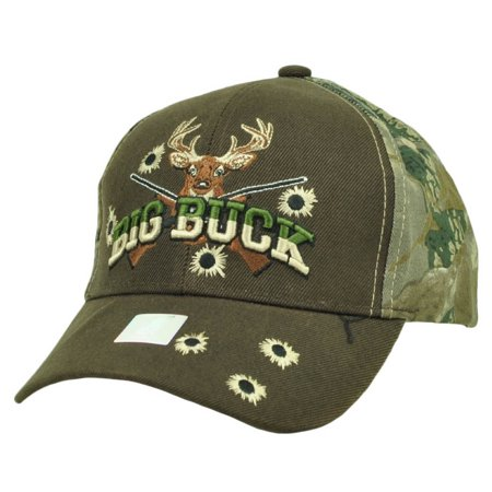 Big Buck Hunter Hunting Hunt Deer Brown Camouflage Camo Adjustable Hat Cap - Hunter Camouflage