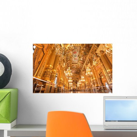 Interior Grand Opera Paris Wall Mural by Wallmonkeys Peel and Stick Graphic (18 in W x 11 in H) WM257390