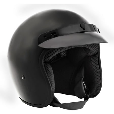 Fuel Helmets, SH-OF0016, Open-Face Helmet, Matte Black, Large