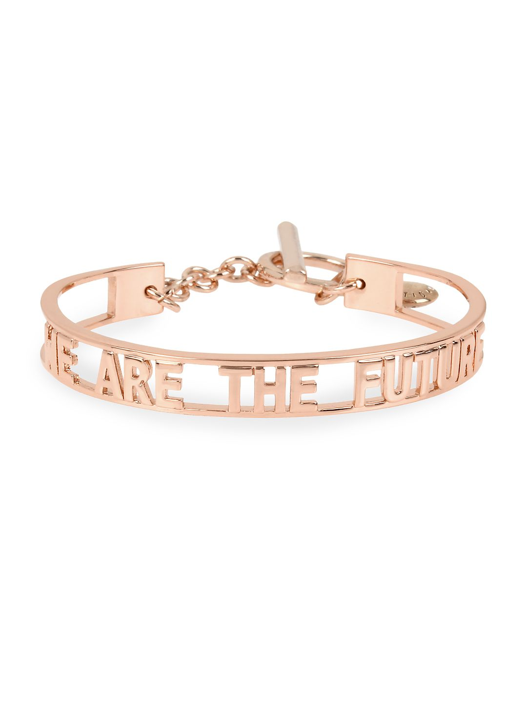 We Are the Future Affirmation Rose-Goldtone Toggle Bracelet