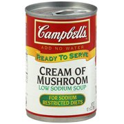 Campbell's Ready To Serve Cream Of Mushroom Soup, 10.5 oz (Pack of 12)