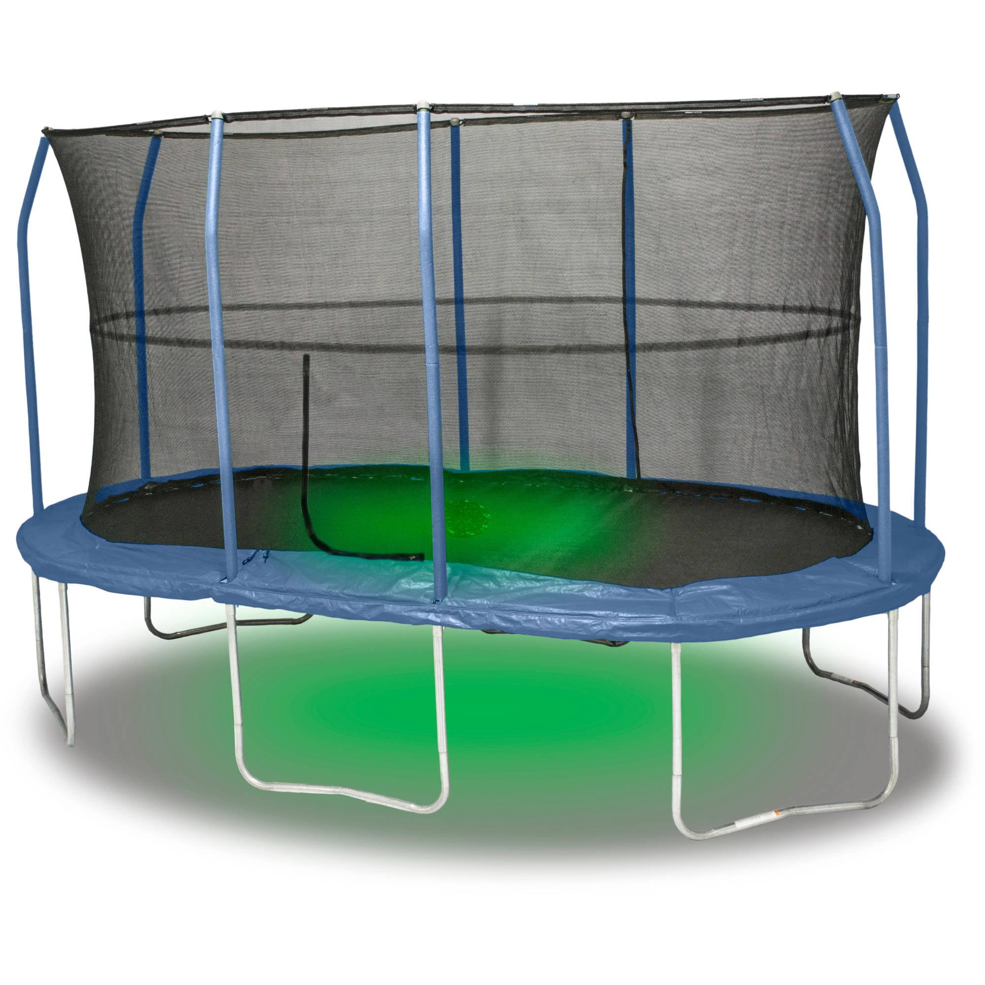 jumpking 15u0027 x 17u0027 oval trampoline combo with sound and light box 2 of 2 walmartcom