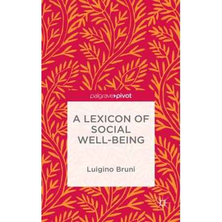 A Lexicon Of Social Well Being
