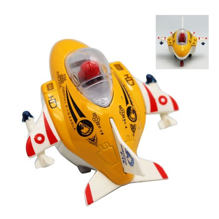 White Yellow and Red F-15 Eagle Kids Fighter Jet Toy