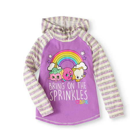 Long Sleeve Sweater Knit Hoodie (Little Girls & Big - Knitting Pattern Hoodie