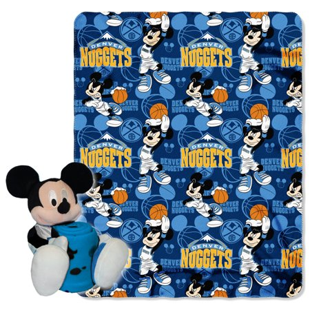 Official NBA and Disney Cobrand Denver Nuggets Mickey Mouse Hugger Character Shaped Pillow and 40