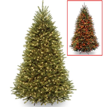 National Tree Pre-Lit 7-1/2'' Dunhill Fir Hinged Artificial ...