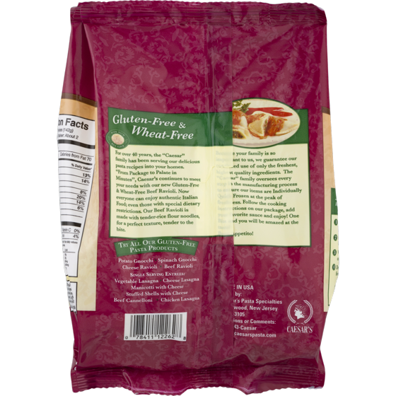 Caesars Gluten Free Beef Ravioli - Walmart com