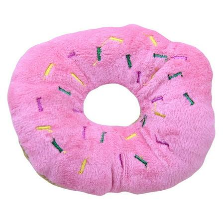 KABOER 11cm Plush Donut Sound Toy Pet Dog Puppy Squeaker Chew Toy Pet Supply