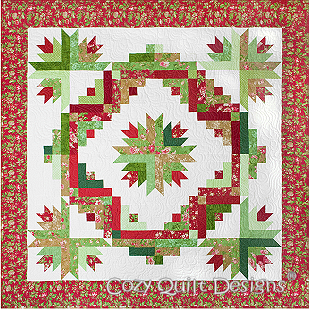 Cactus Wreath By Cozy Quilt Designs using 2 1/2 inch Strips