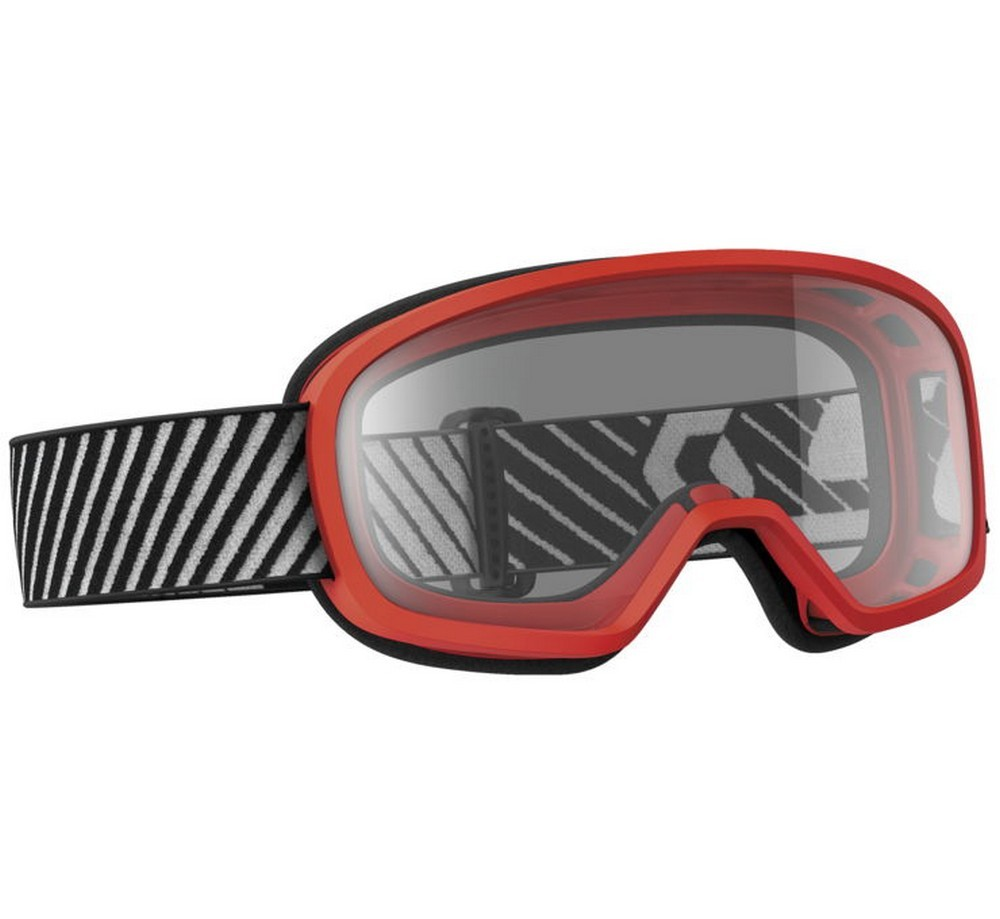 Scott Buzz Youth MX/Offroad Goggles w/Clear Lens Red