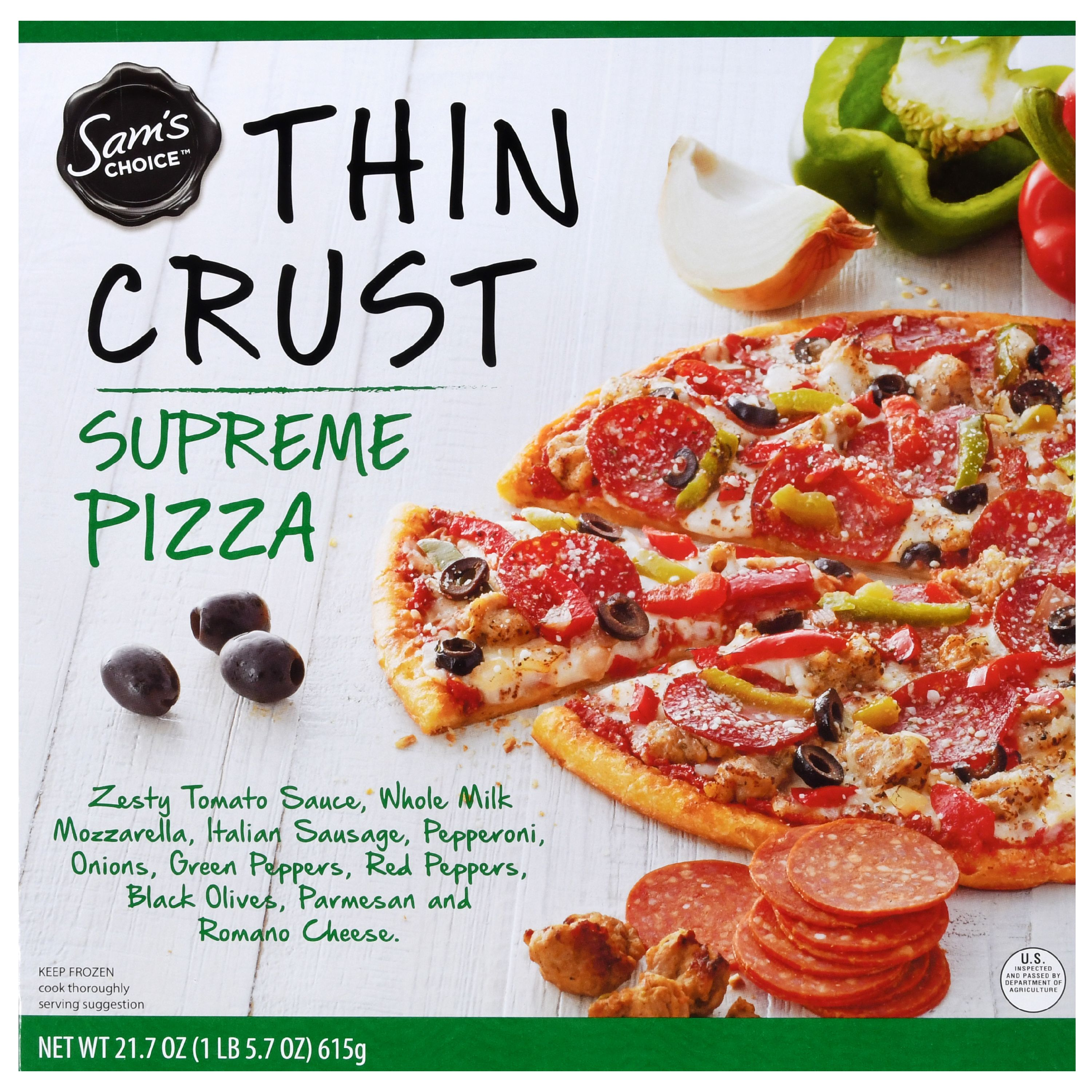 Sam's Choice Frozen Thin Crust Supreme Pizza