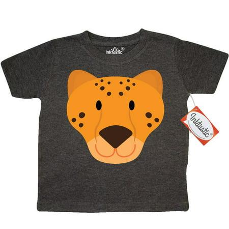 Inktastic Cheetah Face Toddler T Shirt Animal Kids Zoo Jungle Mascot Faces Animals Cute Tees  Gift Child Preschooler Kid Clothing Apparel Hws