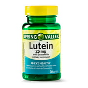 Spring Valley Lutein with Zeaxanthin Softgels, 25 mg, 30 Ct