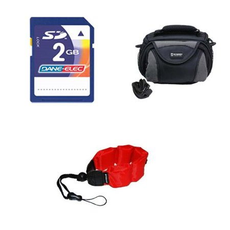 Coleman Memory - Coleman CVW16HD Camcorder Accessory Kit includes: KSD2GB Memory Card, ZE-FS10-R Underwater Accessories, SDC-26 Case