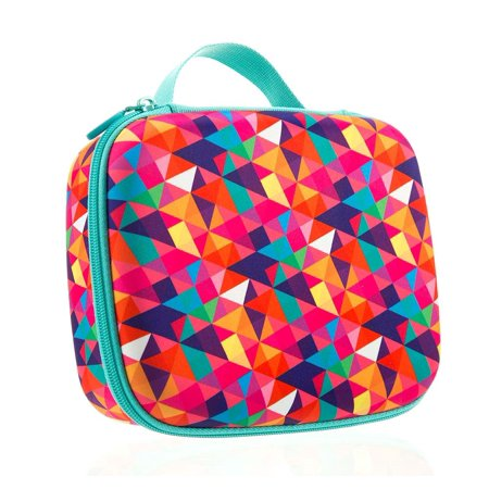 ZIPIT Colorz Jumbo Box, Colorful Triangles - Pink Gable Boxes