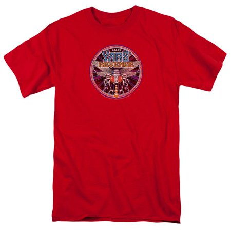 Atari Yars Revenge Patch-S by S Adult Short Sleeve Shirt, Red - Small
