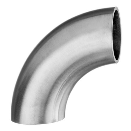 Stainless Steel Weld Elbows - Sanitary Fitting - 304 Stainless Steel Polished - Butt Weld - Short 90° Elbow - 1/2