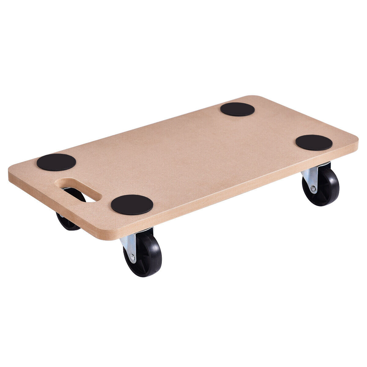440lbs Platform Dolly Rectangle Wood Utility Cart Wheeled Moving Transporter