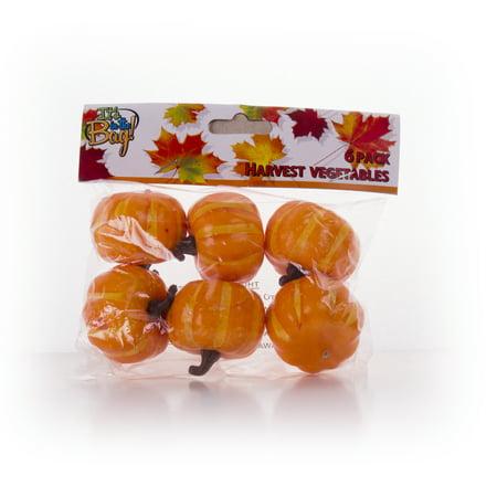 Mini Plastic Pumpkin Harvest Vegetables 5