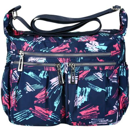 746f37f592d1 Vbiger Crossbody Bags for Women Nylon Travel Purse Waterproof Shoulder  Messenger Bag, Blue
