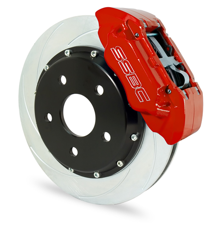 SSBC Performance Brakes A158-4P Extreme; 4-Piston Disc Brake Kit