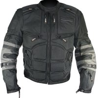 Xelement CF5050 'Morph' Men's Black and Grey Cordura Armored Jacket with Removable Sleeves Black