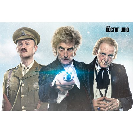 Doctor Who   Tv Show Poster   Print  Twice Upon A Time   Dr  Who Christmas Special 2018   Size  36   X 24