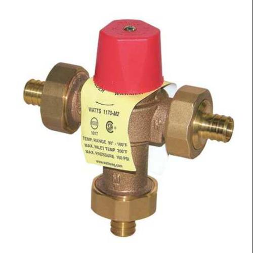 WATTS 1/2 LF1170M2-PEX Mixing Valve,Brass,23 gpm,5-9/16 In. H