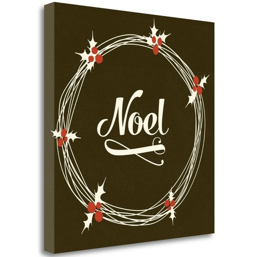 Tangletown Fine Art 'Noel' Textual Art on Canvas