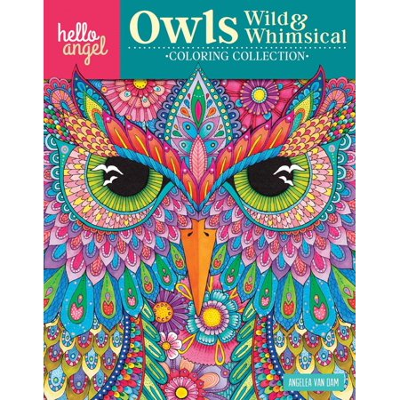 Hello Angel Coloring Collection: Hello Angel Owls Wild & Whimsical Coloring Collection (Paperback)